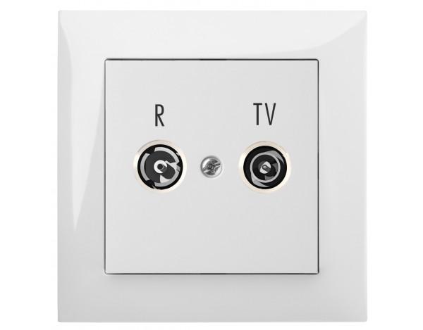 SENTIA gniazdo podtynkowe R-TV 14dB bez ramki