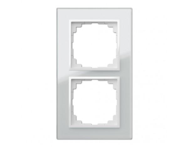 SENTIA ramka szklana podwójna biała