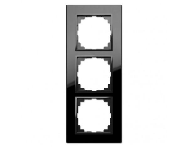 SENTIA ramka szklana potrójna czarna