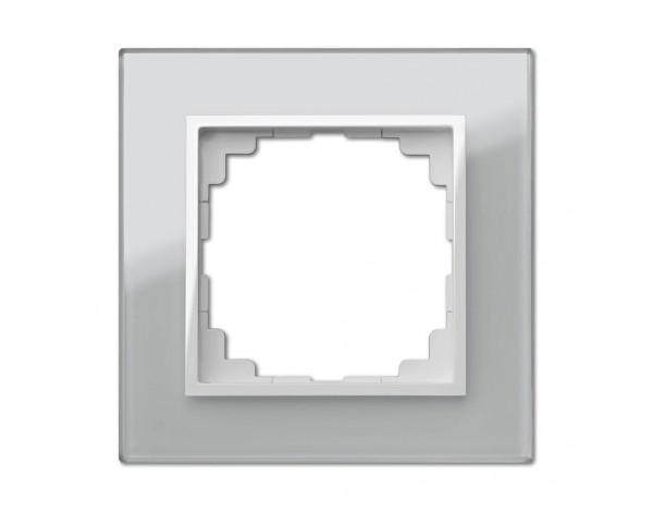 SENTIA ramka szklana srebrna