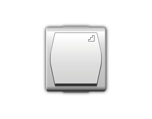 HERMES 2 włącznik schodowy biały