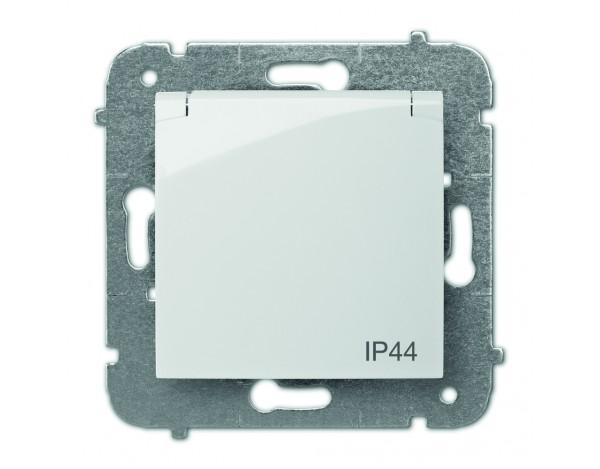 CARLA Gniazdo podtynkowe z uziemieniem IP 44 bez ramki