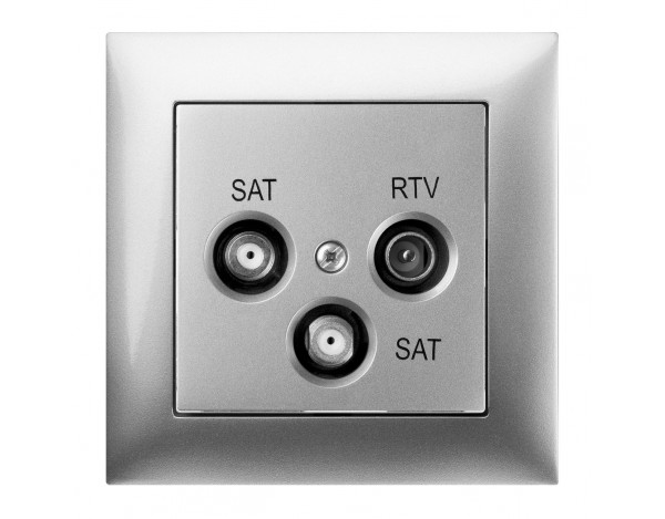 SENTIA gniazdo podtynkowe R-TV-2xSAT bez ramki