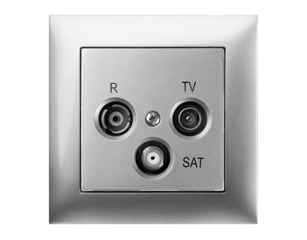 SENTIA gniazdo podtynkowe R-TV-SAT końcowe