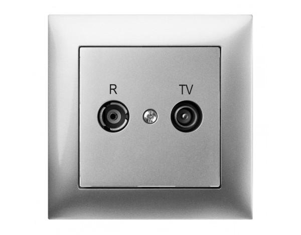 SENTIA gniazdo podtynkowe R-TV końcowe